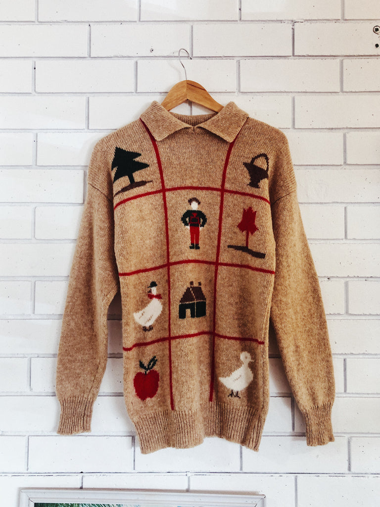 Vintage Ugly Xmas Wool Jumper