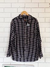 Load image into Gallery viewer, Preloved Blue Plaid Longsleeve Shirt Medium