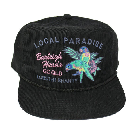 Local Paradise Black Corduroy Cap