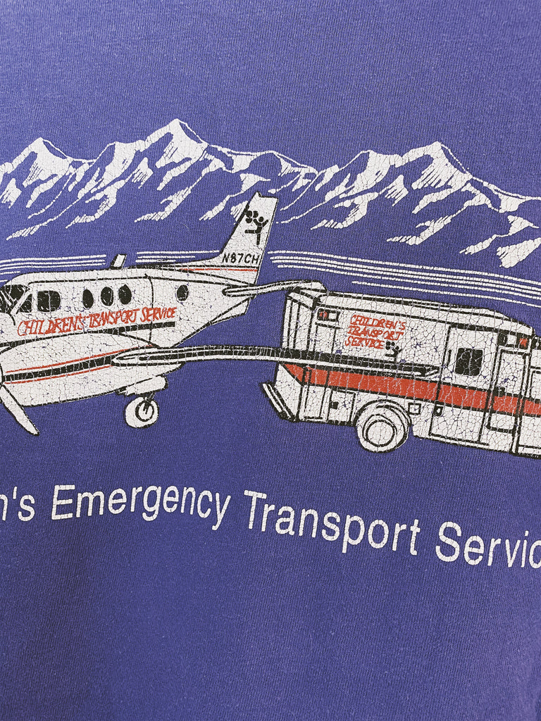 Vintage Children's Emergency Transport Single Stitch T-Shirt - Medium