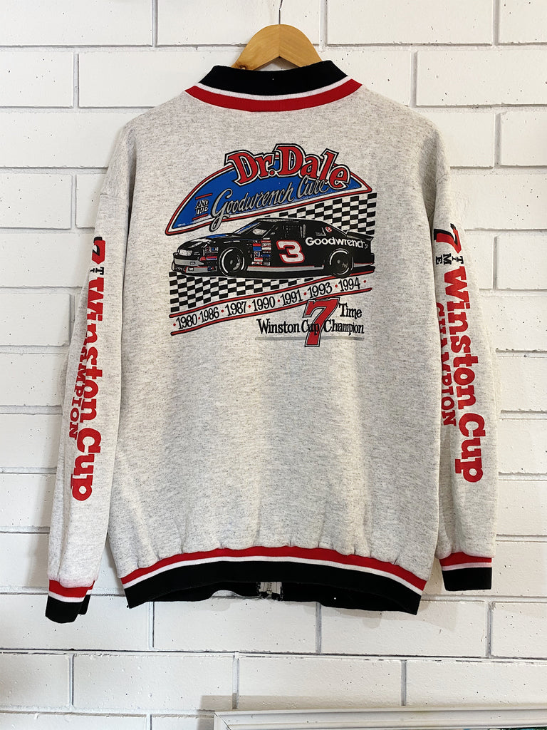 Vintage Nascar Dale Earnhardt 7 Time Zip Sweatshirt - Large