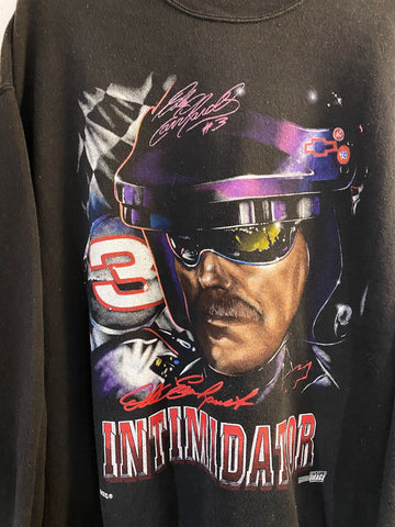 Vintage Nascar - Intimidator Dale Earnhardt Faded Black Sweatshirt - Large