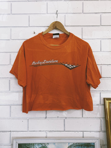 Vintage Harley San Fran Orange Crop - Medium