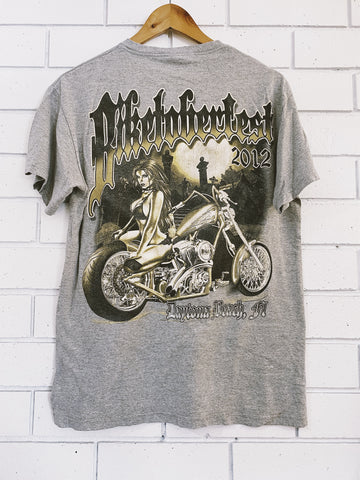 Preloved Harley Biketoberfest 2012 Grey Marle T-Shirt - Medium