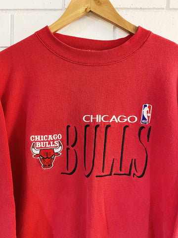 Vintage Sports - Chicago Bulls Invert Red Sweatshirt - Medium