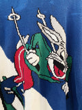 Vintage Cartoon - Bugs Bunny Knit Sweatshirt - Large