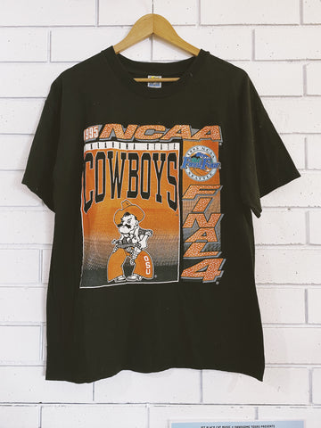 Vintage 1995 NCAA Cowboys T-Shirt - Large