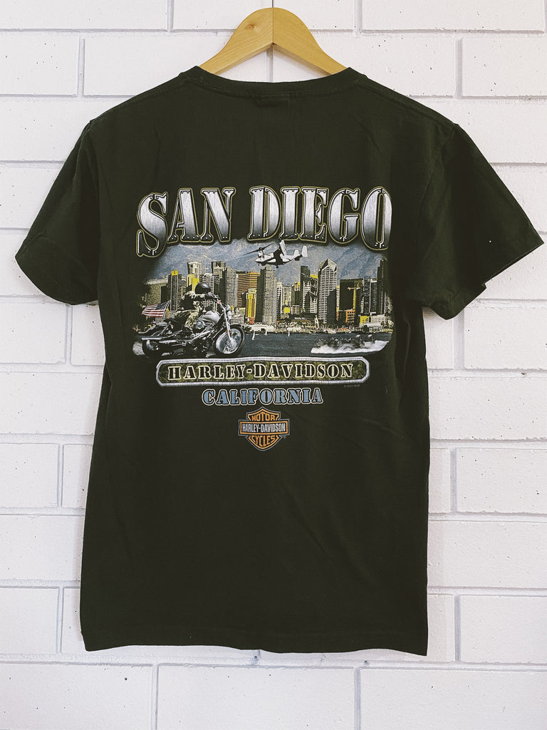 Vintage / Preloved Harley San Diego Green T-Shirt - Small