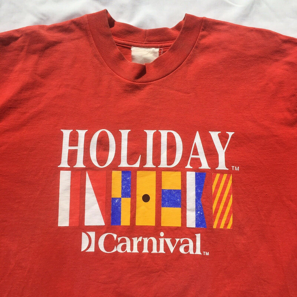 Vintage Holiday Carnival Travel Tourist T Shirt XL
