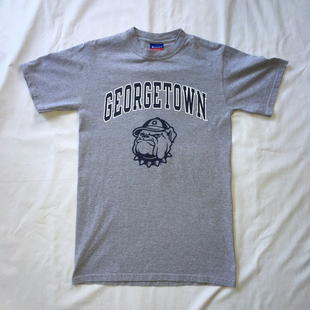 Champion Georgetown Hoyas University Jack the Bulldog Mens T Shirt Small Grey