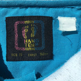 Vintage Hang Ten 80s Surf Sportswear Men's Polo Shirt Tag Small Fits Medium Blue