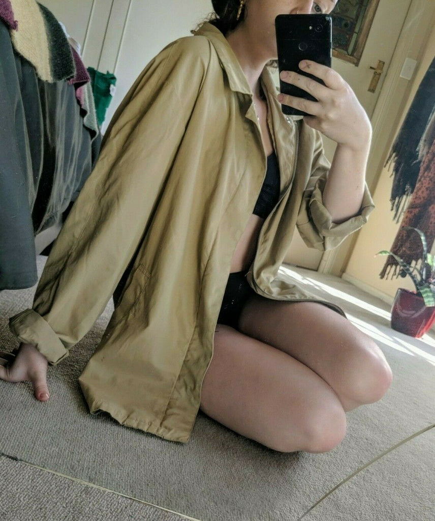 Preloved Oversized Blazer - Beige - XLarge