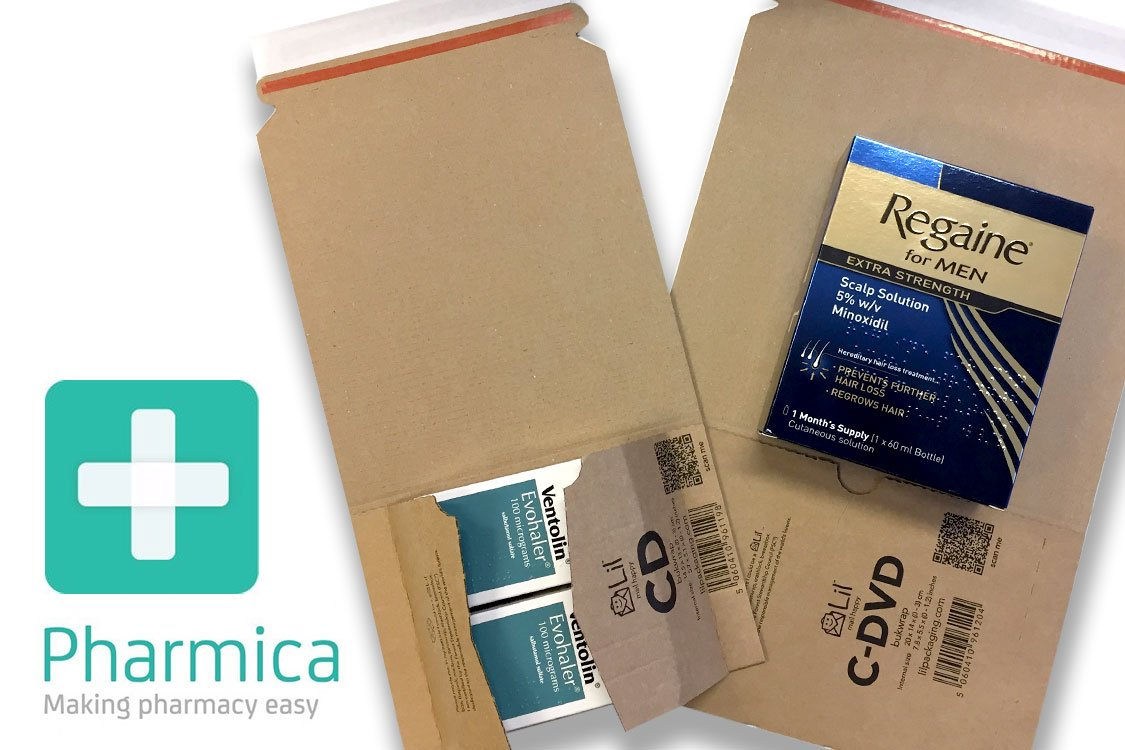 Postal packaging designed for Online pharmacy orders
