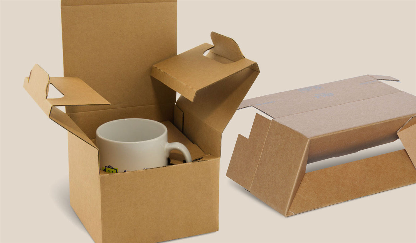crashlock fast cardboard boxes and packaging for ceramic mugs