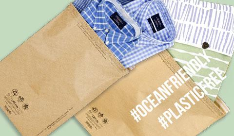 Eco-Friendly Plastic Free Fashion Packaging | Kraft Paper Mail Bags and mailing sacks