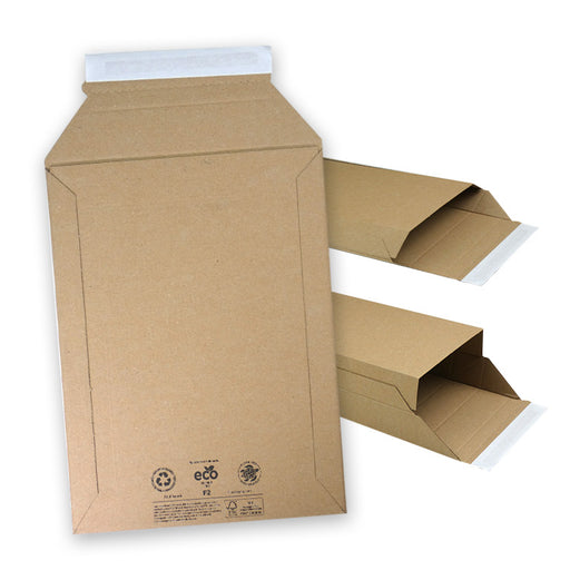 F2 expandable corrugated envelope