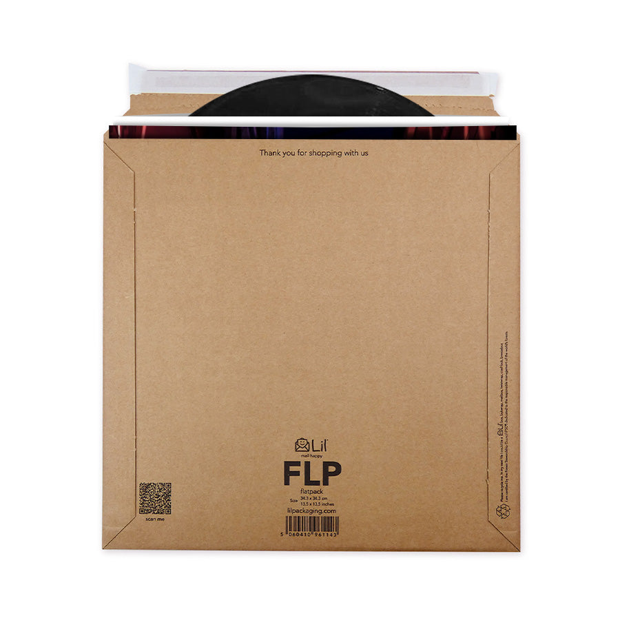 Vinyl record strong corrugated cardboard envelope packaging mailer