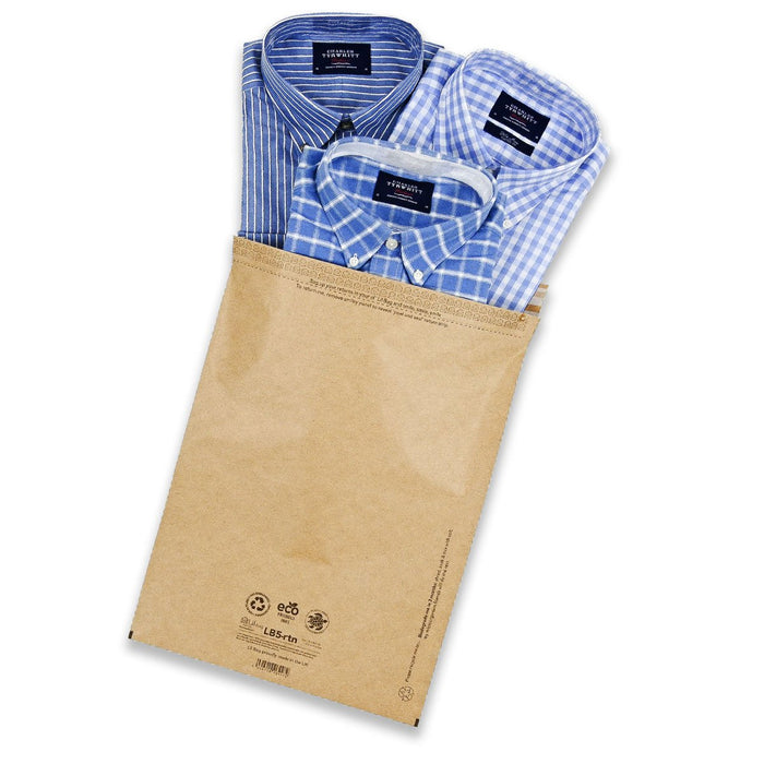 kraft paper mail bag eco friendly plastic free postal packaging
