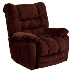 Contemporary Temptation Merlot Microfiber Power Recliner with Push Button