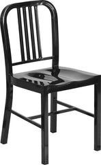 Black Metal Indoor-Outdoor Chair