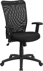 High Back Black Mesh Executive Ergonomic Swivel Office Chair with Arms