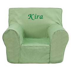 Personalized Small Solid Green Kids Chair