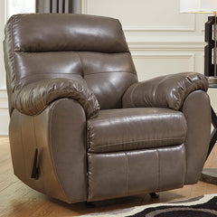 Benchcraft Bastrop Rocker Recliner in Steel DuraBlend
