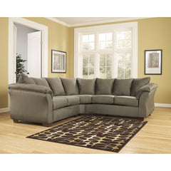Signature Design by Ashley Darcy Sectional in Sage Fabric