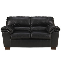 Signature Design by Ashley Commando Loveseat in Black Leather