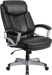 HERCULES Series 500 lb. Capacity Big & Tall Black Leather Executive Swivel Office Chair