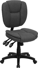 Mid-Back Gray Fabric Multi-Functional Ergonomic Swivel Task Chair