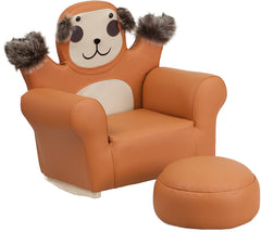 Kids Monkey Rocker Chair and Footrest