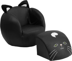 Kids Cat Chair and Footstool