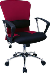 Mid-Back Burgundy Mesh Swivel Task Chair