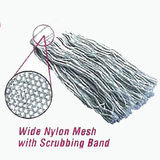 4-Ply 100% Cotton Cut End Mop with Scrubbing Pad