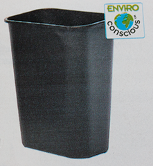 Black Receptacle made of Recylce Content