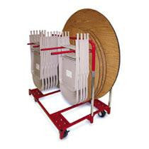 Folding Chair and Round Table Mover