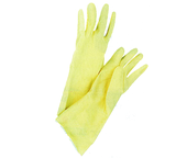 Yellow Flock-Lined Gloves