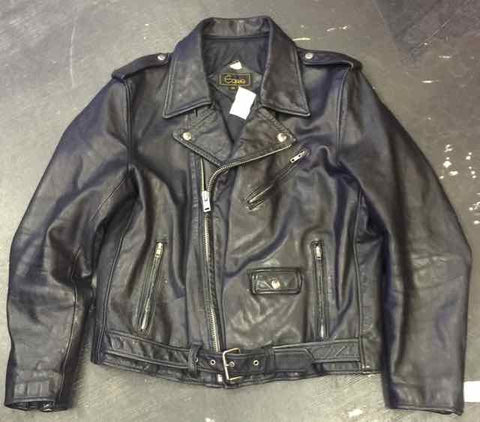 VINTAGE LEGACY CLASSIC LEATHER MOTORCYCLE JACKET by EQUUS