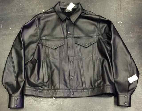 VINTAGE LEGACY LEATHER DENIM STYLE JACKET by MR. S