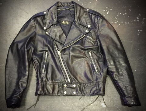 VINTAGE LEGACY CLASSIC LEATHER MOTORCYCLE JACKET by LEATHER CRAFT