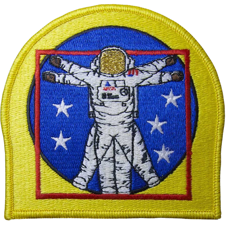 EVA Man (Metallic Visor) - Space Patches