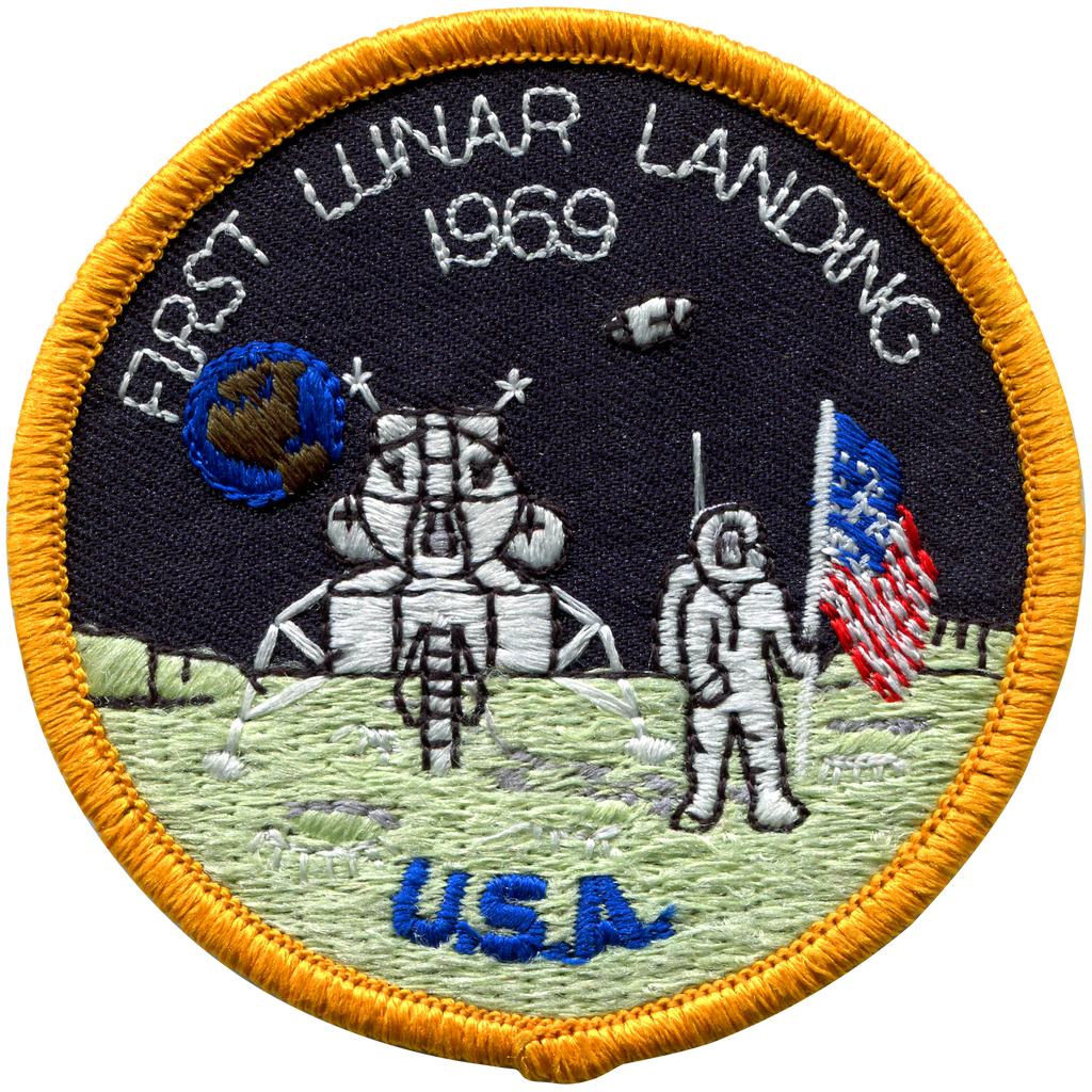 1st LunarLanding Souvenir Version - Space Patches
