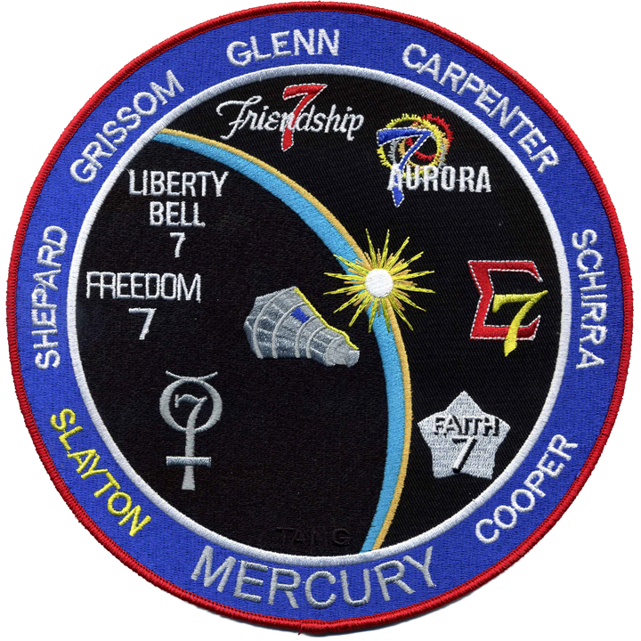 Mercury Commemorative Back-Patch - Space Patches
