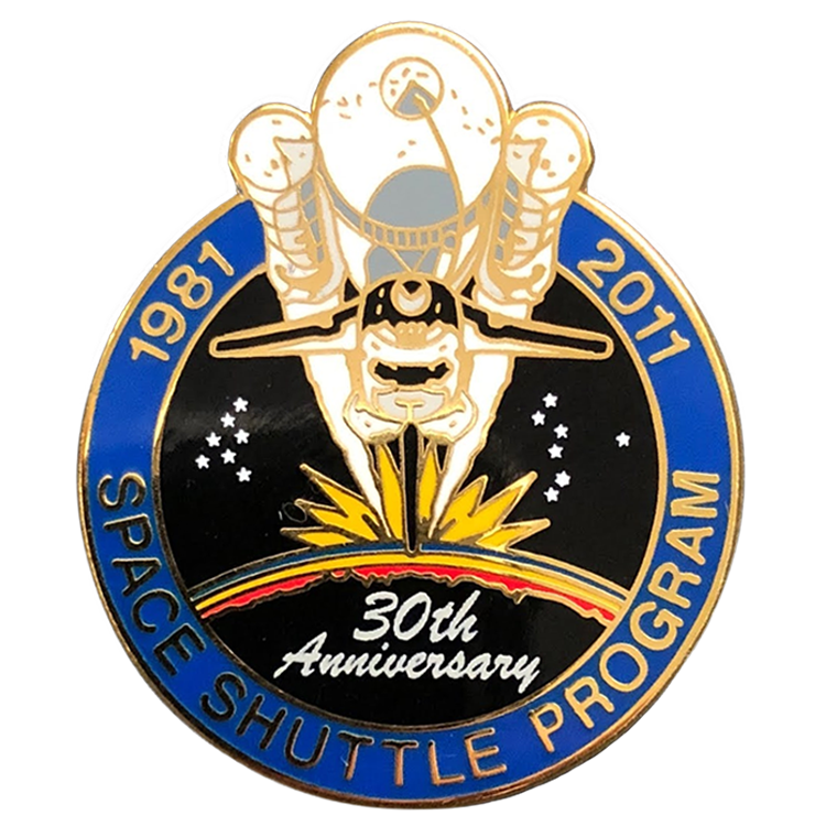Columbia I 30th Anniversary Pin - Space Patches