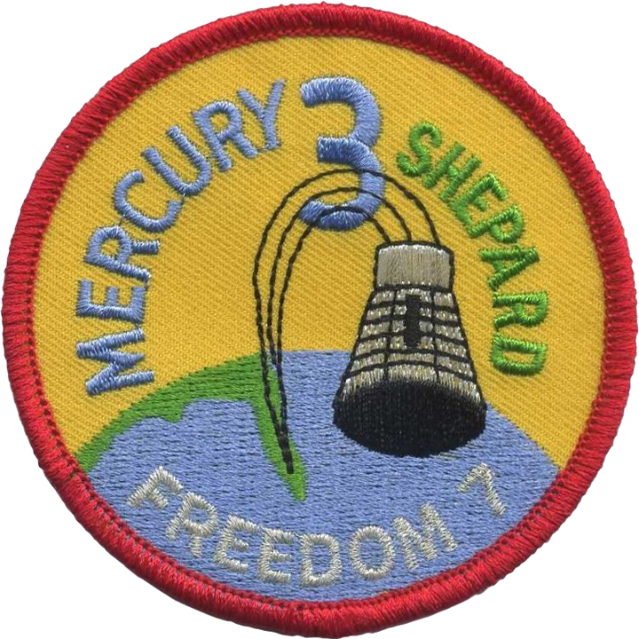 "Mercury Three — ""Freedom 7"" - Space Patches"