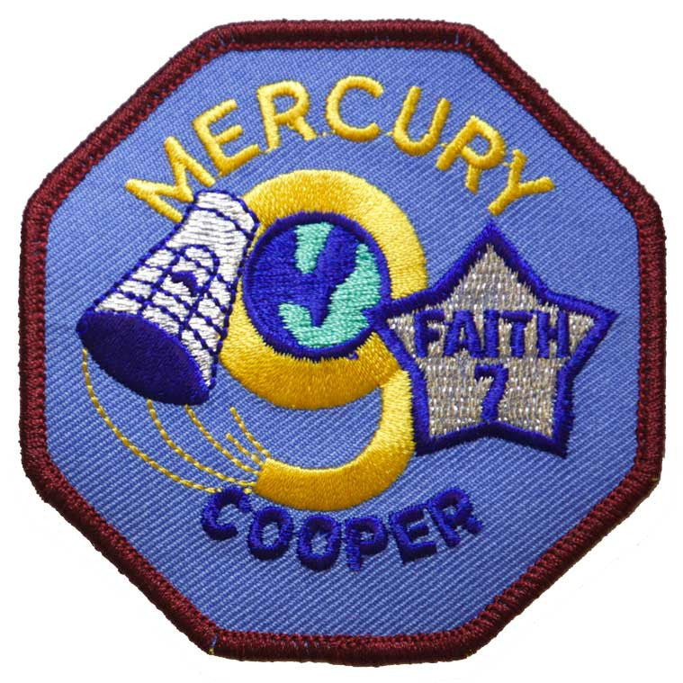 "Mercury Nine — ""Faith 7"" - Space Patches"