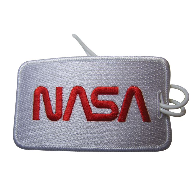 NASA Worm Luggage Tag - Space Patches