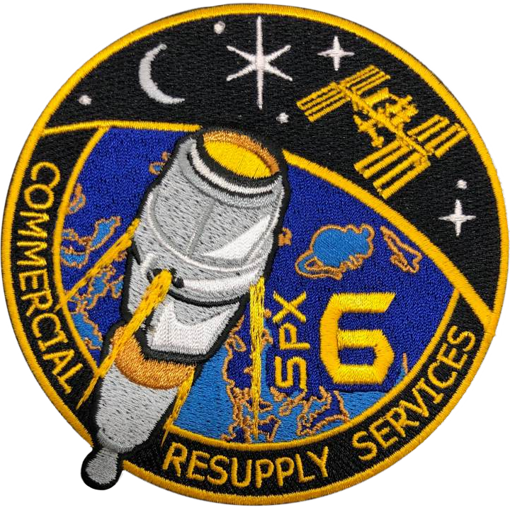 CRS SpaceX 6 - Space Patches