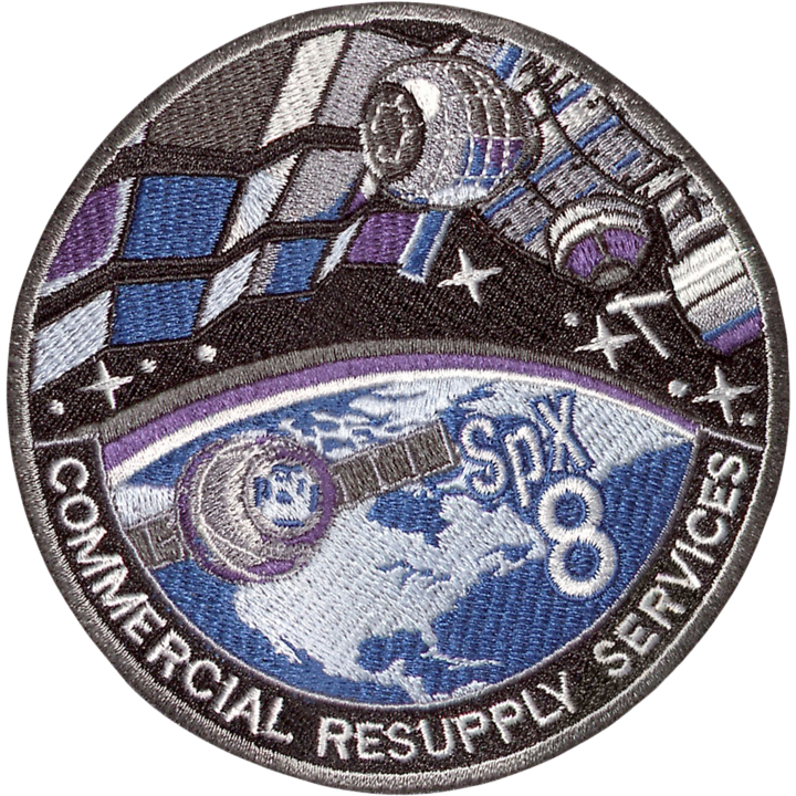 CRS SpaceX 8 - Space Patches